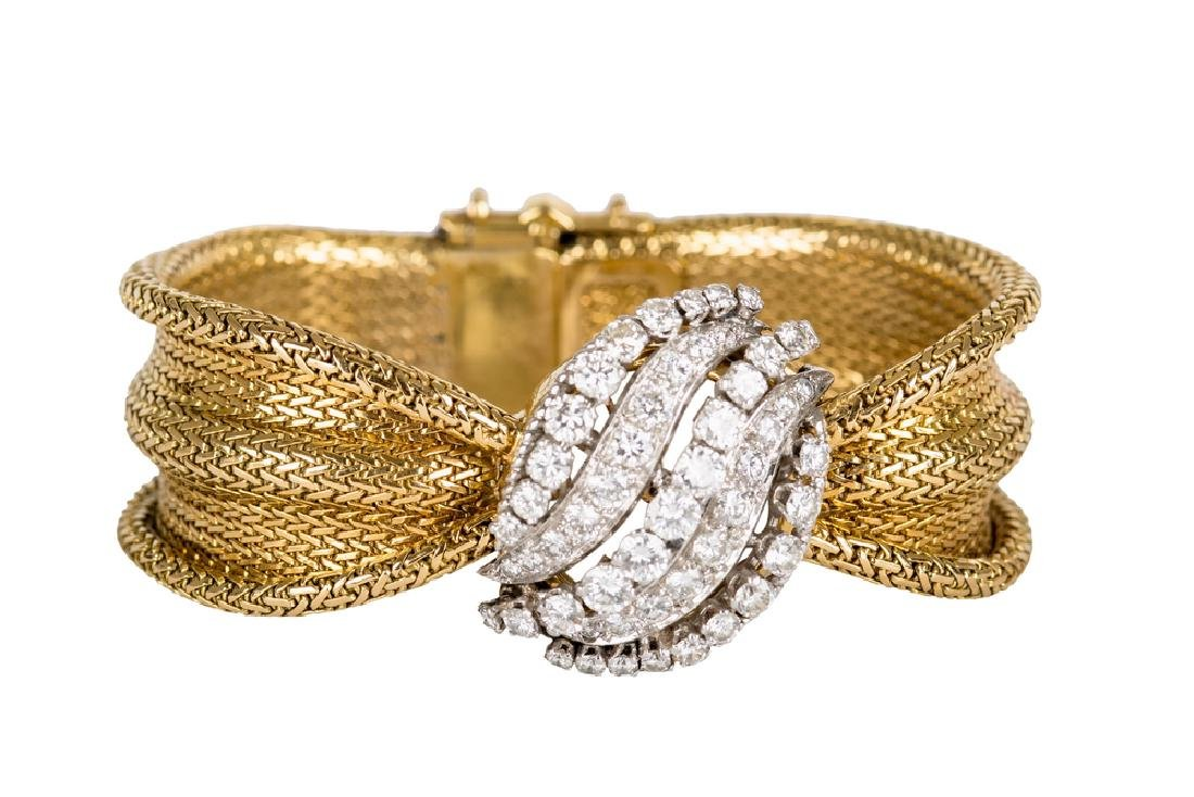 18 KARAT GOLD, PLATINUM, & DIAMOND WATCH/BRACELET