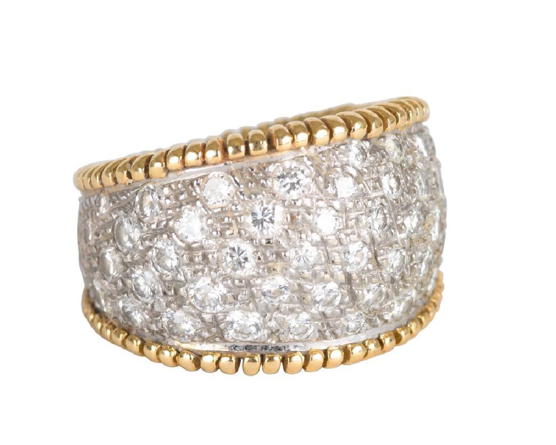 14 KARAT YELLOW AND WHITE GOLD & DIAMOND RING