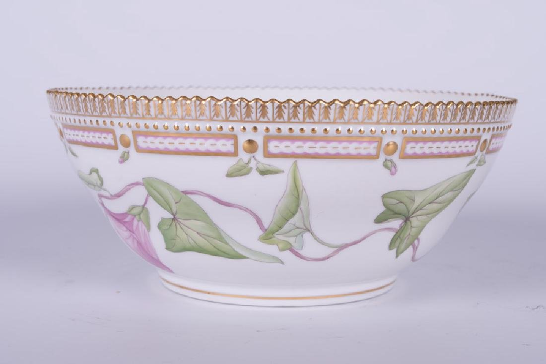 "ROYAL COPENHAGEN ""FLORA DANICA"" PORCELAIN SERVING BOWL - 10"
