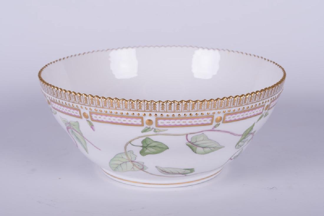 "ROYAL COPENHAGEN ""FLORA DANICA"" PORCELAIN SERVING BOWL - 2"