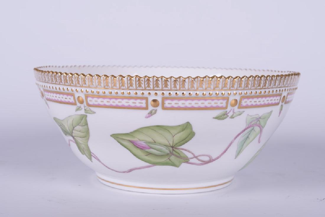 "ROYAL COPENHAGEN ""FLORA DANICA"" PORCELAIN SERVING BOWL - 9"