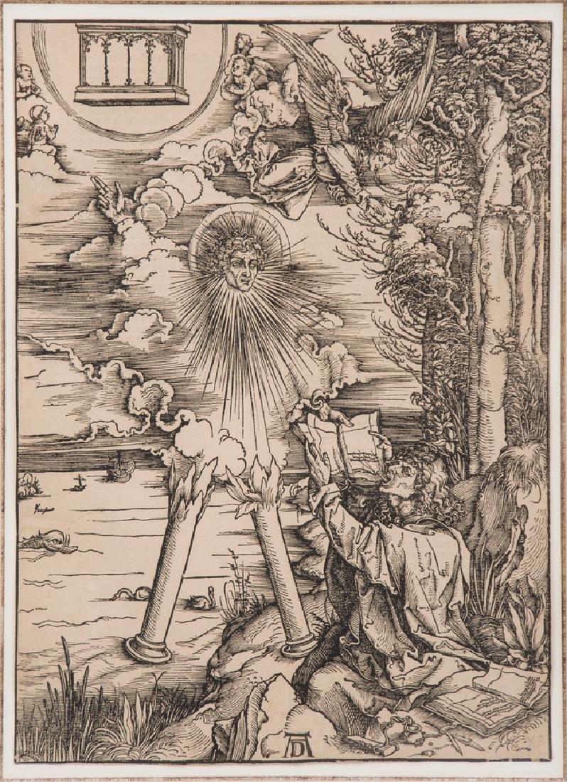 """AFTER ALBRECHT DURER: """"ST. JOHN DEVOURING THE BOOK"""""""