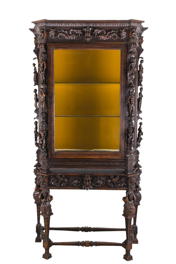 NORTHERN ITALIAN CARVED WALNUT CABINET