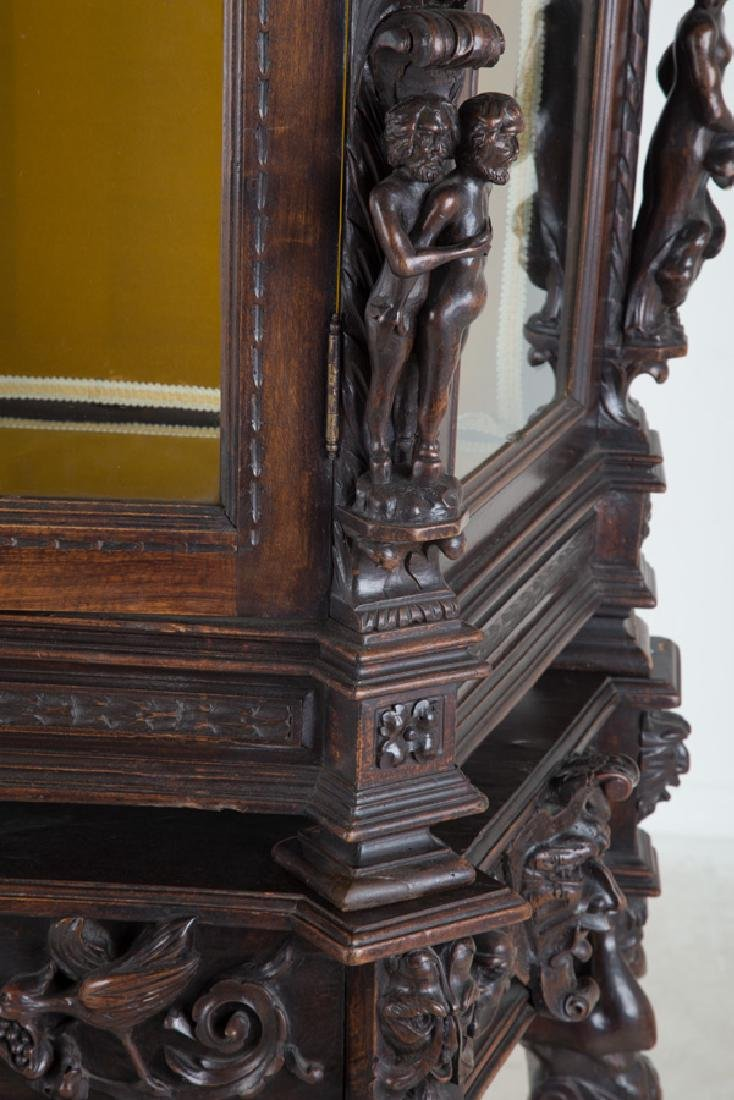NORTHERN ITALIAN CARVED WALNUT CABINET - 2