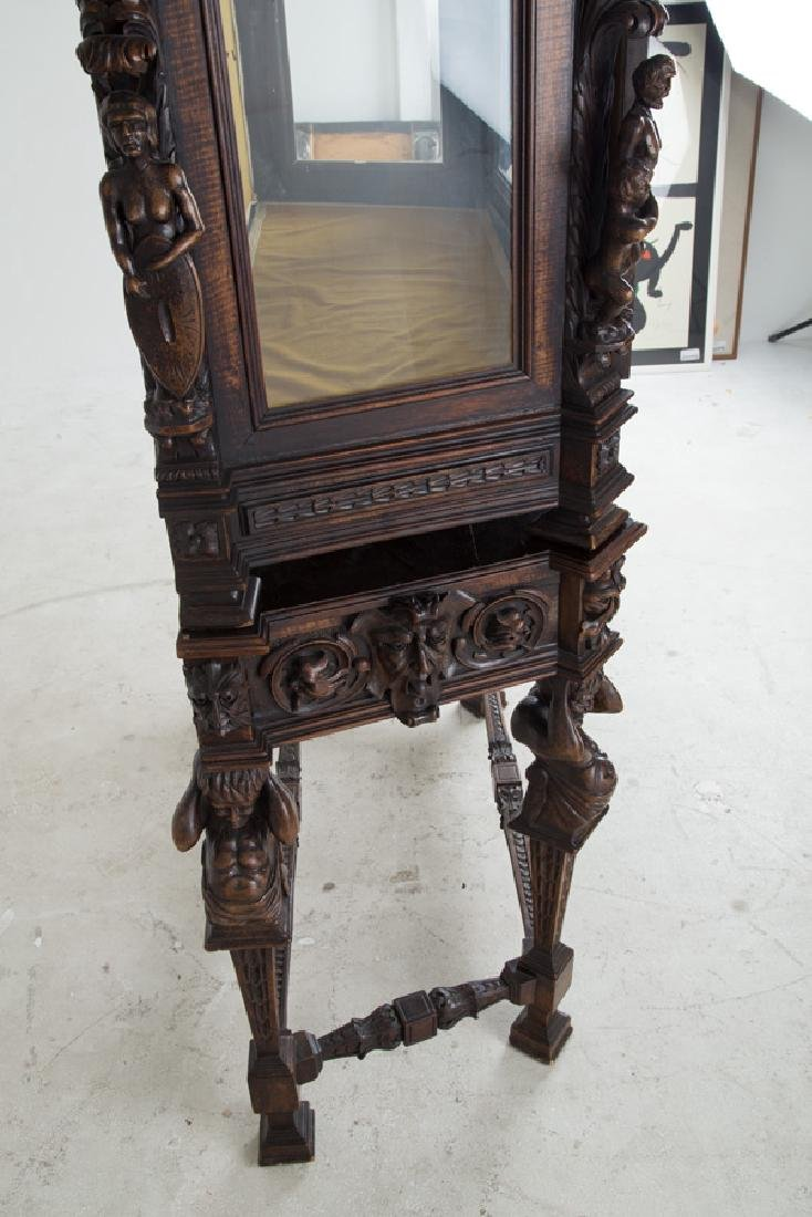 NORTHERN ITALIAN CARVED WALNUT CABINET - 5