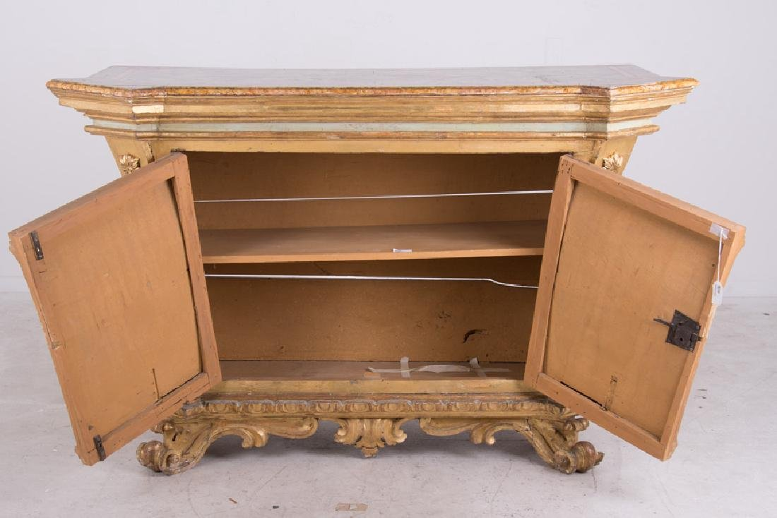 ITALIAN ROCOCO PAINTED & PARCEL-GILT CABINET - 4