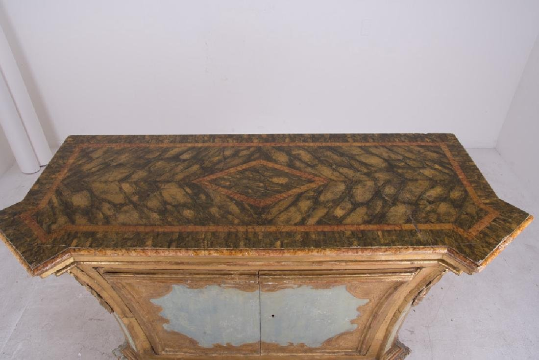 ITALIAN ROCOCO PAINTED & PARCEL-GILT CABINET - 5