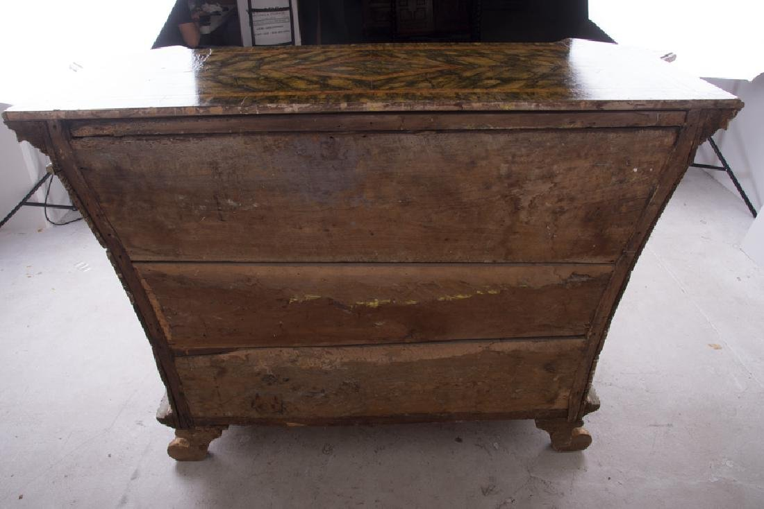 ITALIAN ROCOCO PAINTED & PARCEL-GILT CABINET - 6