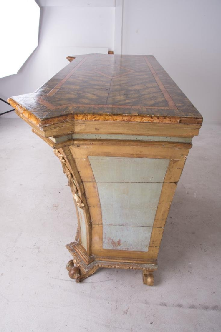 ITALIAN ROCOCO PAINTED & PARCEL-GILT CABINET - 7