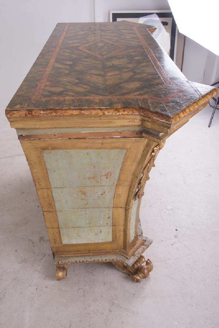 ITALIAN ROCOCO PAINTED & PARCEL-GILT CABINET - 8