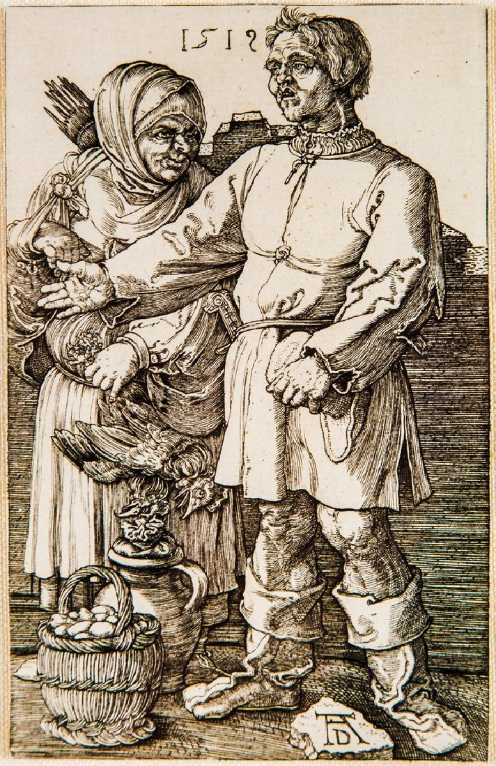 "AFTER ALBRECHT DURER: ""THE PEASANT & HIS WIFE AT"