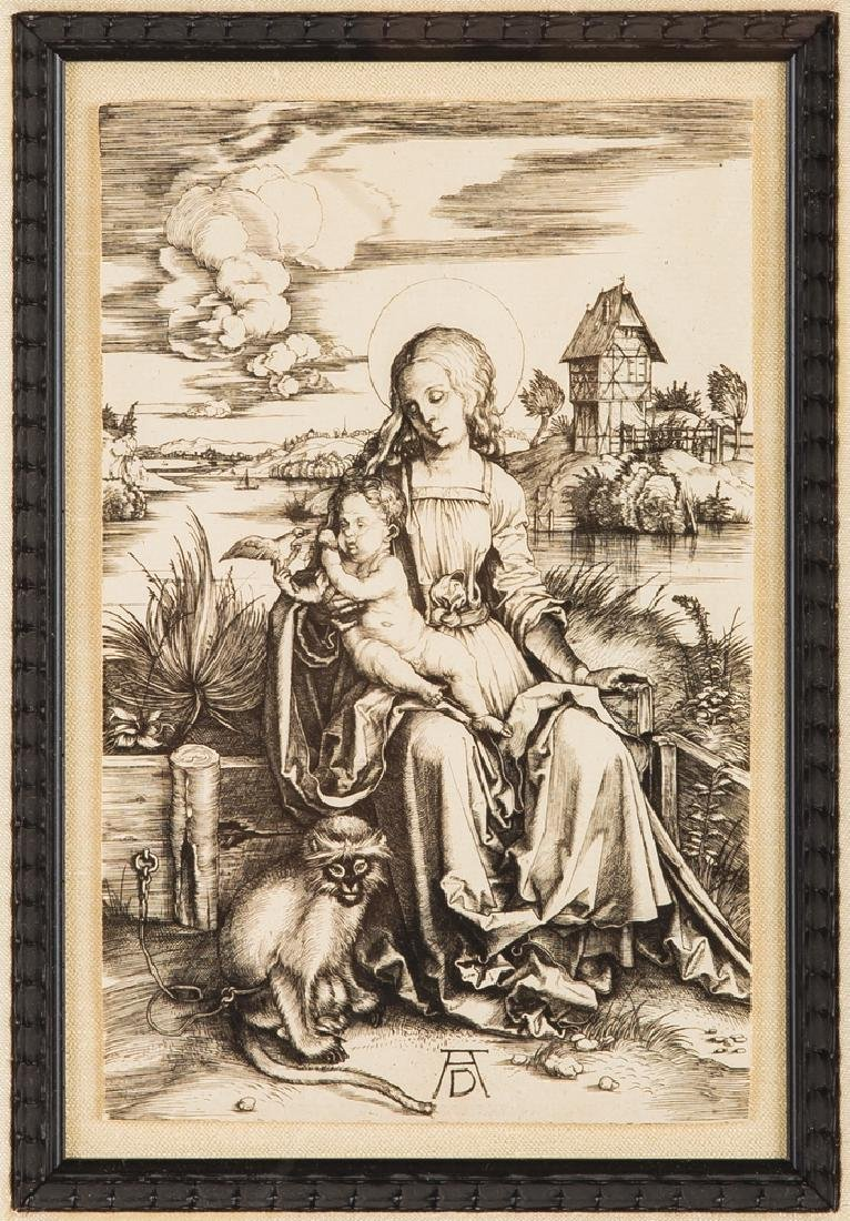 "AFTER ALBRECHT DURER: ""VIRGIN & CHILD WITH THE MONKEY"""