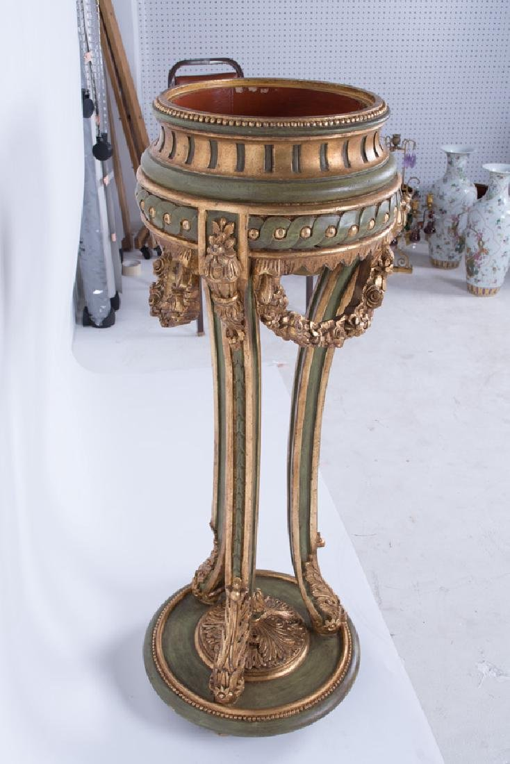 PAIR OF PAINTED & GILT DECORATED VENETIAN STYLE - 4