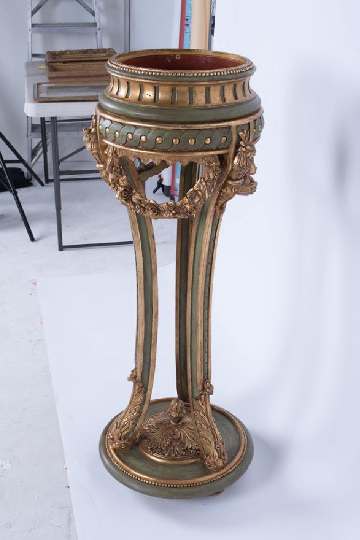 PAIR OF PAINTED & GILT DECORATED VENETIAN STYLE - 5