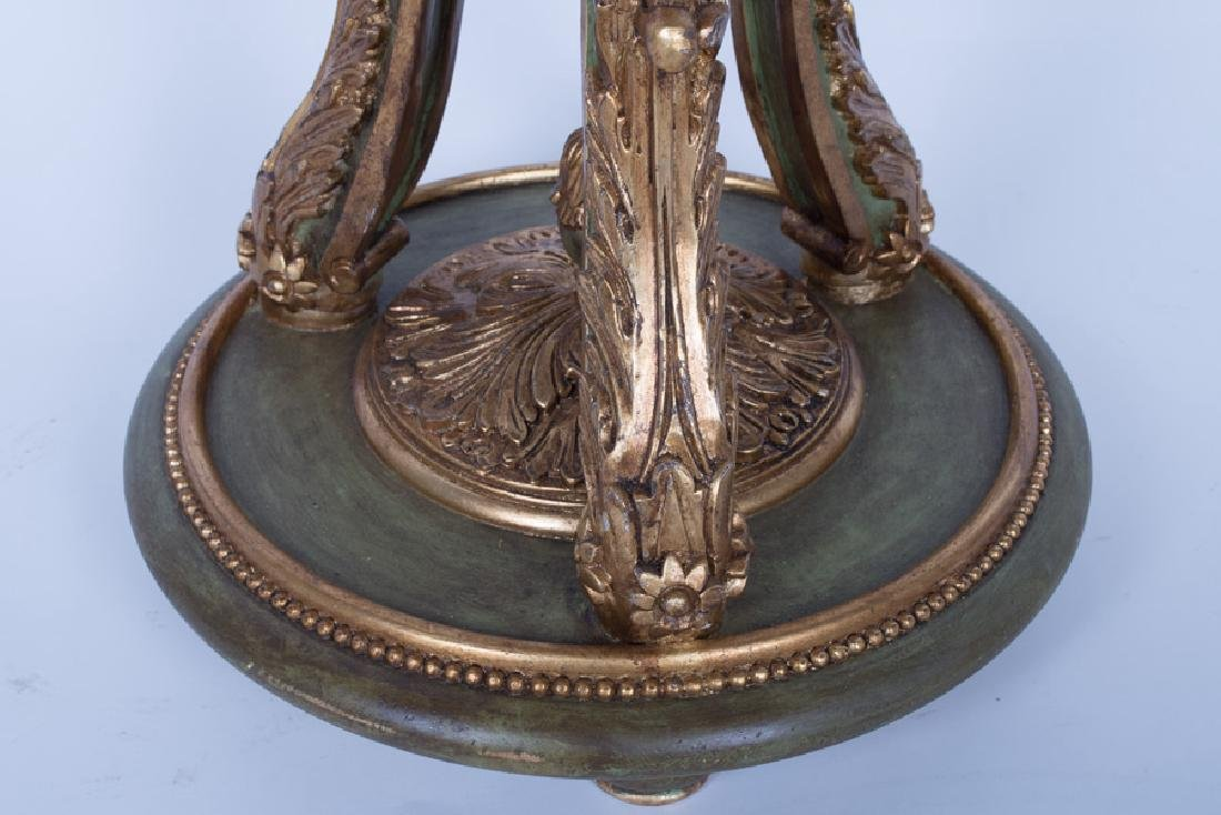 PAIR OF PAINTED & GILT DECORATED VENETIAN STYLE - 8
