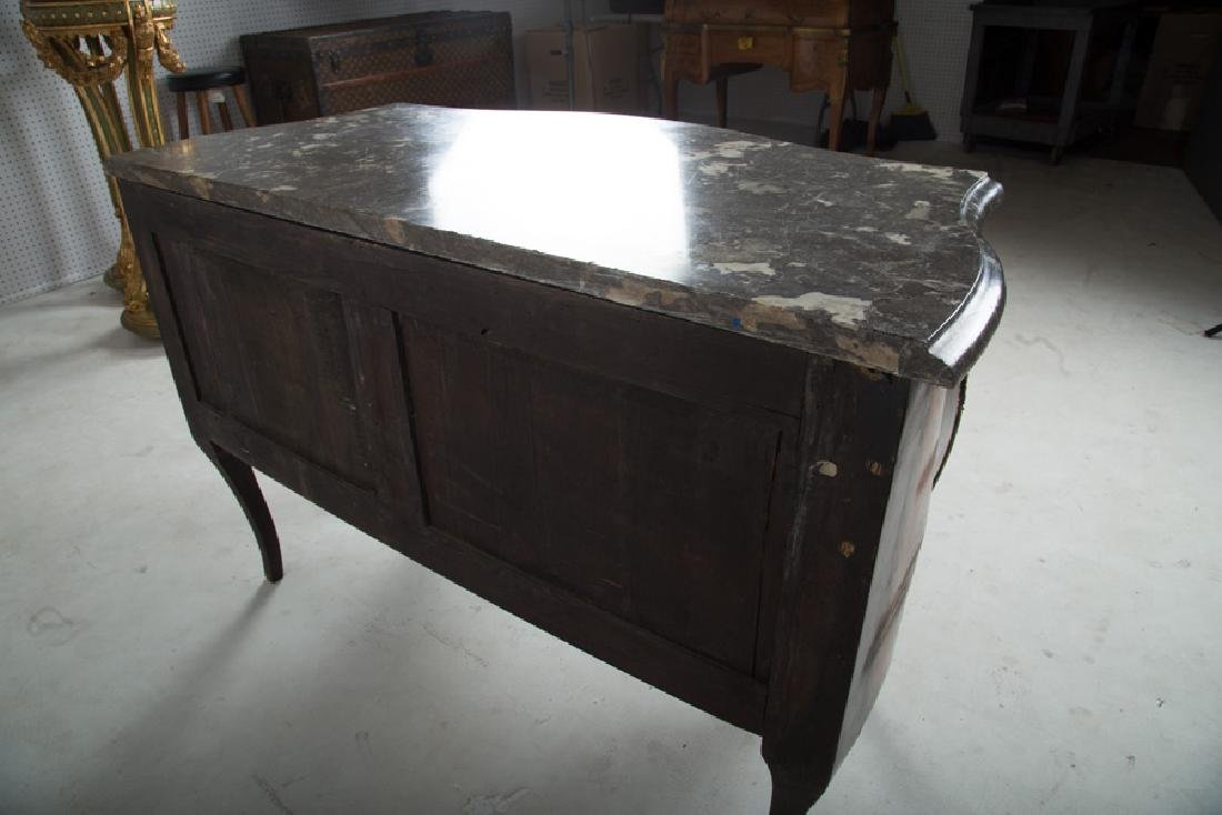 FRENCH WALNUT & ORMOLU-MOUNTED MARBLE TOP COMMODE - 2