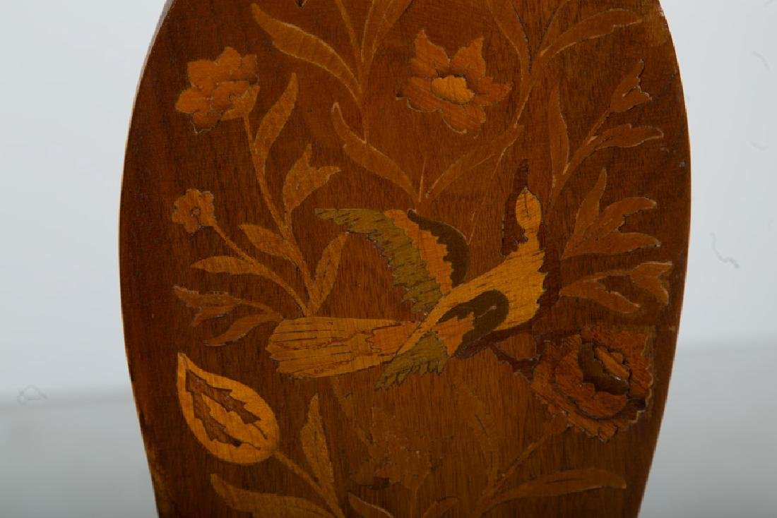 SET OF SIX DUTCH MARQUETRY INLAID CHAIRS - 5