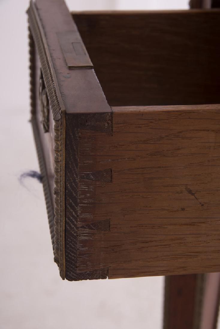 LOUIS XVI STYLE WALNUT & LEATHER DEMI-LUNE DESK - 6