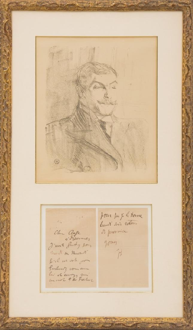 "HENRI DE TOULOUSE-LAUTREC: ""PORTRAIT OF LUCIEN GUITRY"""
