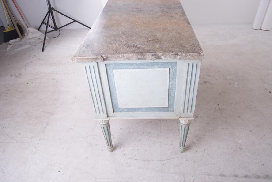 PAIR OF LOUIS XVI PAINTED TWO-DRAWER COMMODES - 3