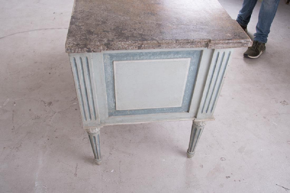 PAIR OF LOUIS XVI PAINTED TWO-DRAWER COMMODES - 5