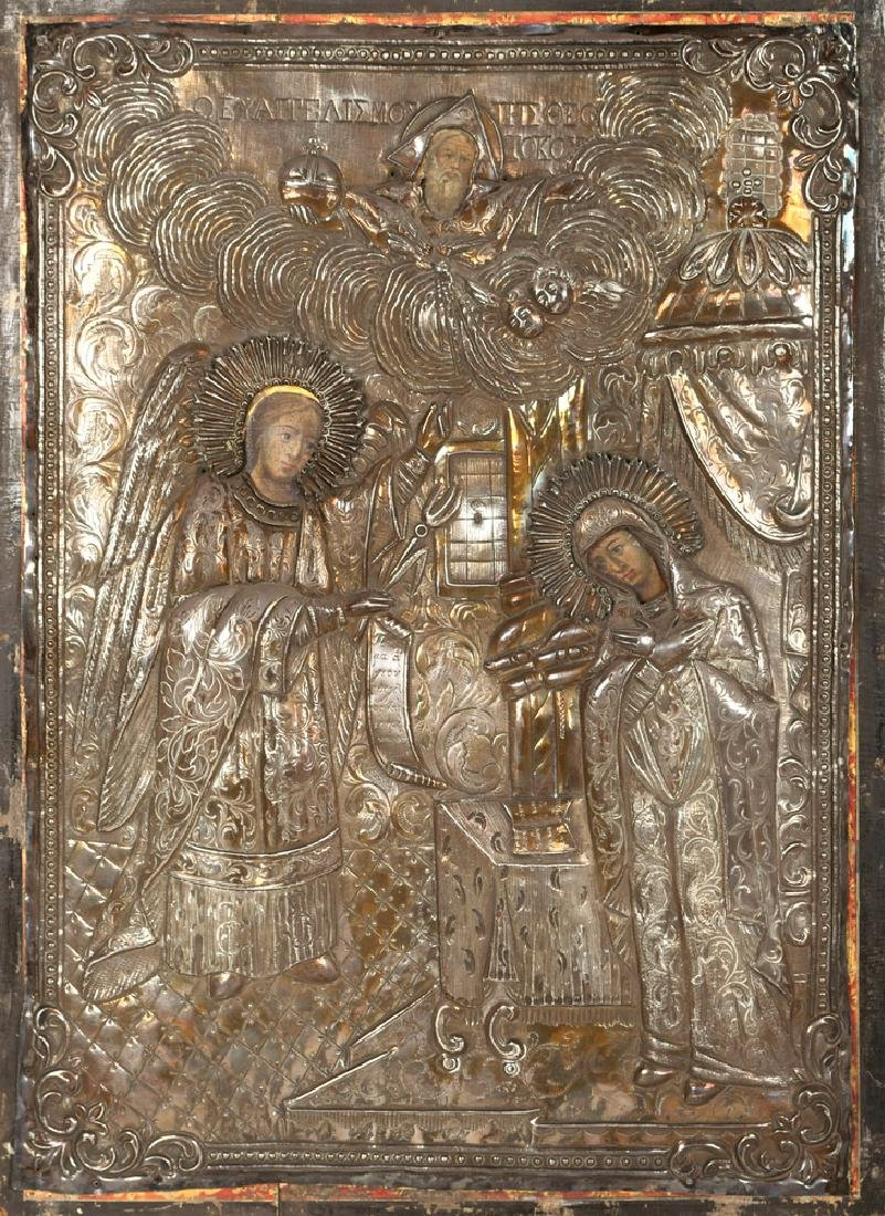 "GREEK ICON OF ""THE ANNUNCIATION"""