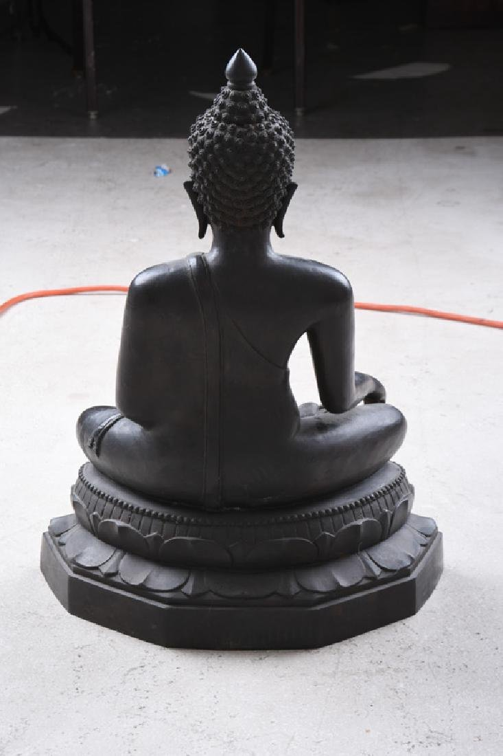 THAI BRONZE SEATED BUDDHA - 2