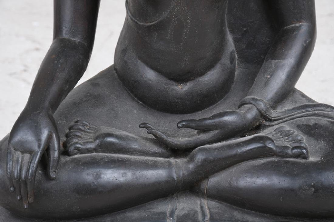 THAI BRONZE SEATED BUDDHA - 5