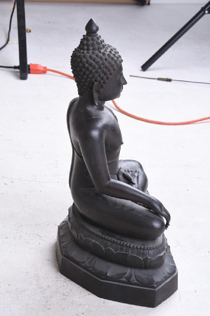 THAI BRONZE SEATED BUDDHA - 7