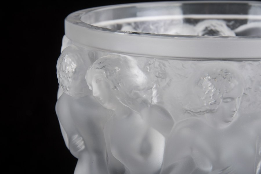LALIQUE MOLDED GLASS VASE - 6