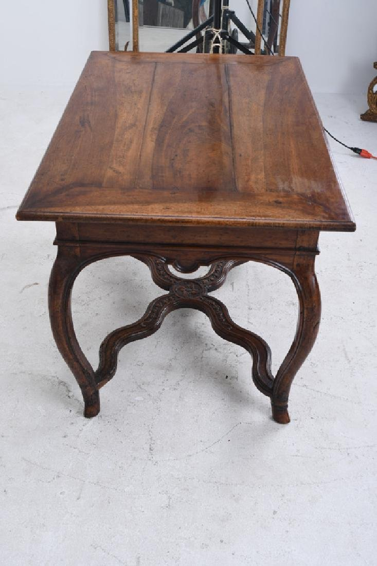 LOUIS XV WALNUT SINGLE DRAWER CENTER TABLE - 2