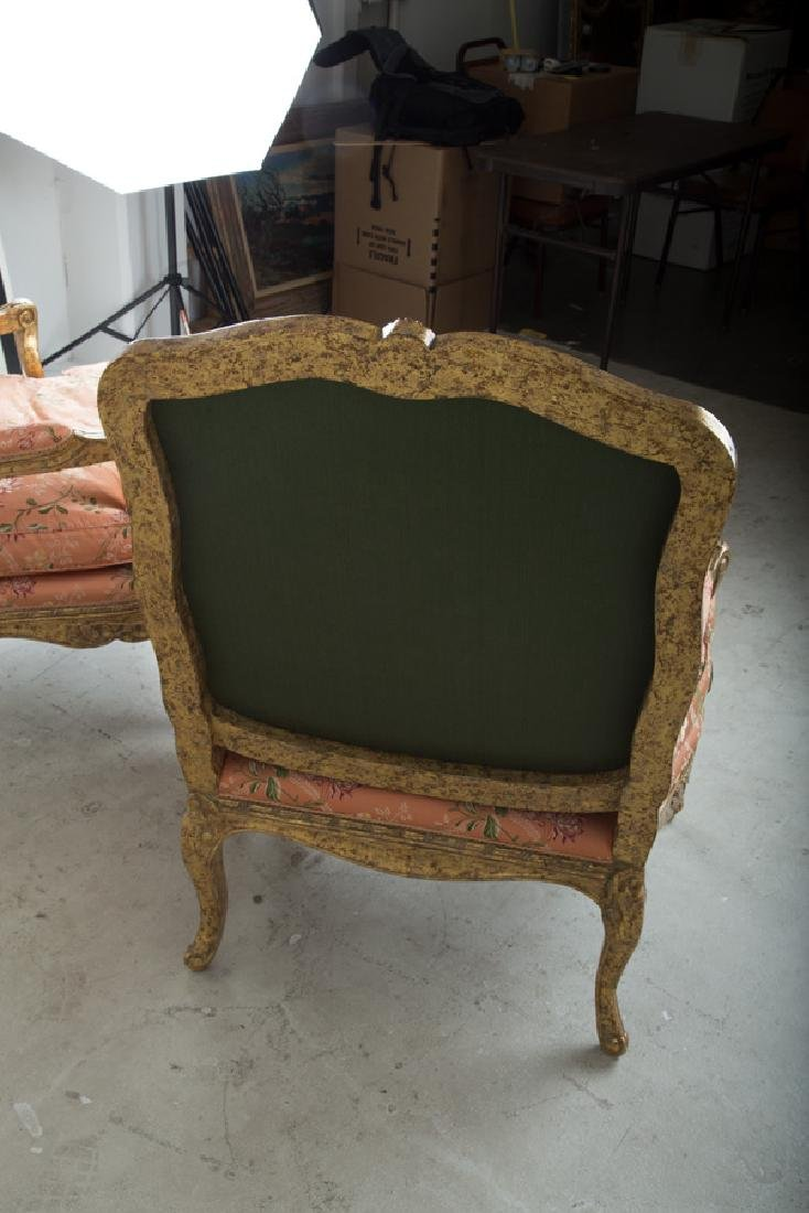 PAIR OF NEOCLASSICAL STYLE PARCEL-GILT FAUTEUILS - 4