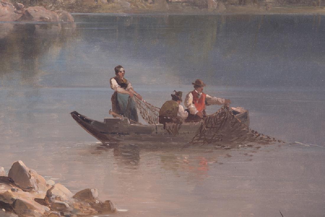 """JOSEF THOMA: """"FISHING BENEATH HOHER GOLL, ALPS"""" - 2"""