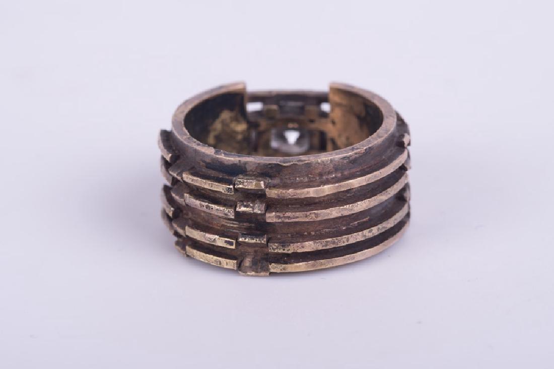 GENTLEMAN'S 14 KARAT GOLD & DIAMOND RING - 2