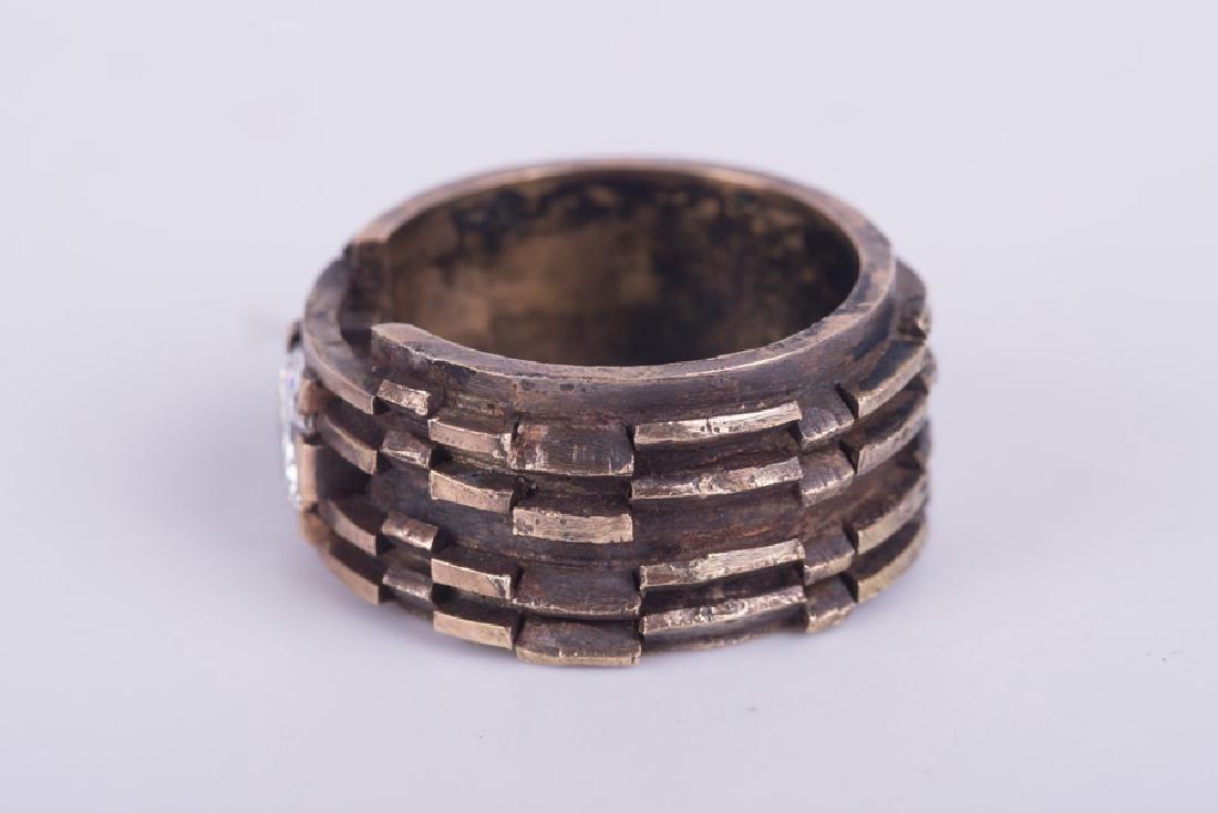 GENTLEMAN'S 14 KARAT GOLD & DIAMOND RING - 3