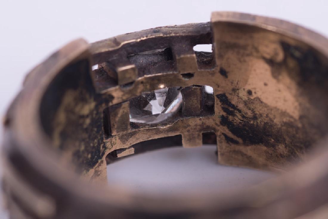 GENTLEMAN'S 14 KARAT GOLD & DIAMOND RING - 4