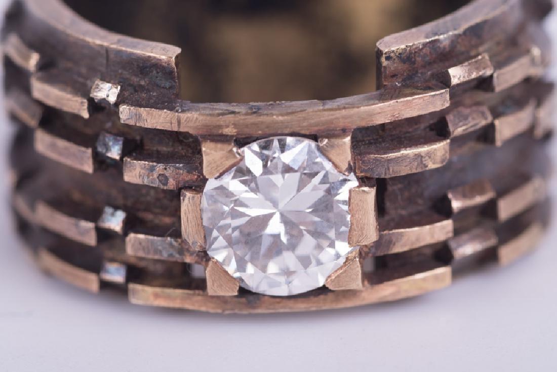 GENTLEMAN'S 14 KARAT GOLD & DIAMOND RING - 5