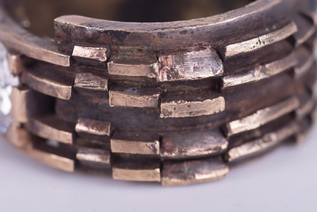 GENTLEMAN'S 14 KARAT GOLD & DIAMOND RING - 6