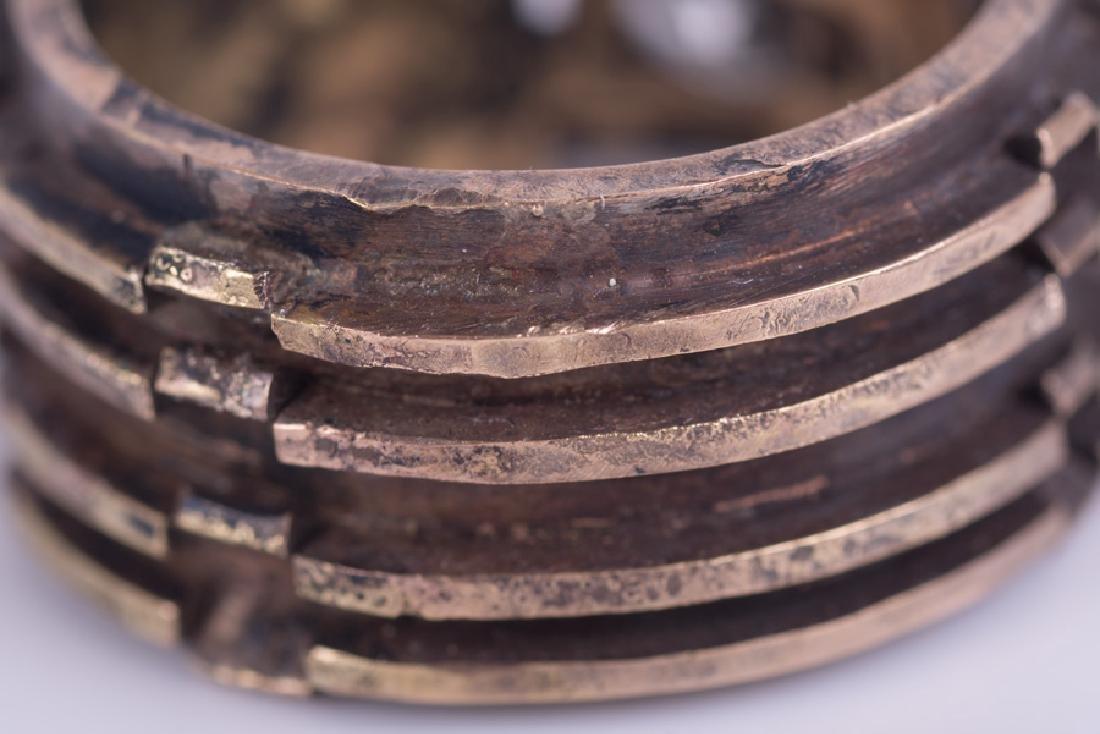 GENTLEMAN'S 14 KARAT GOLD & DIAMOND RING - 7