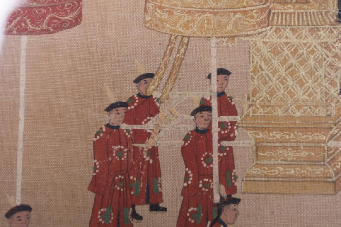 """CHINESE COURT """"PROCESSION"""" PAINTING - 10"""