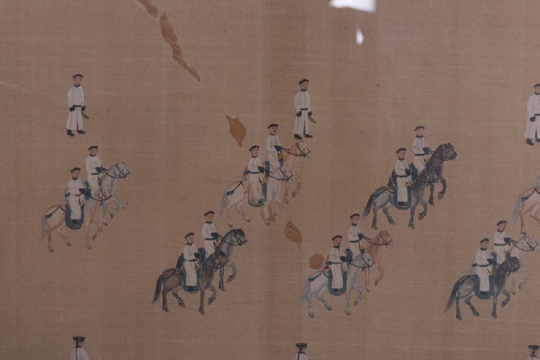 """CHINESE COURT """"PROCESSION"""" PAINTING - 3"""