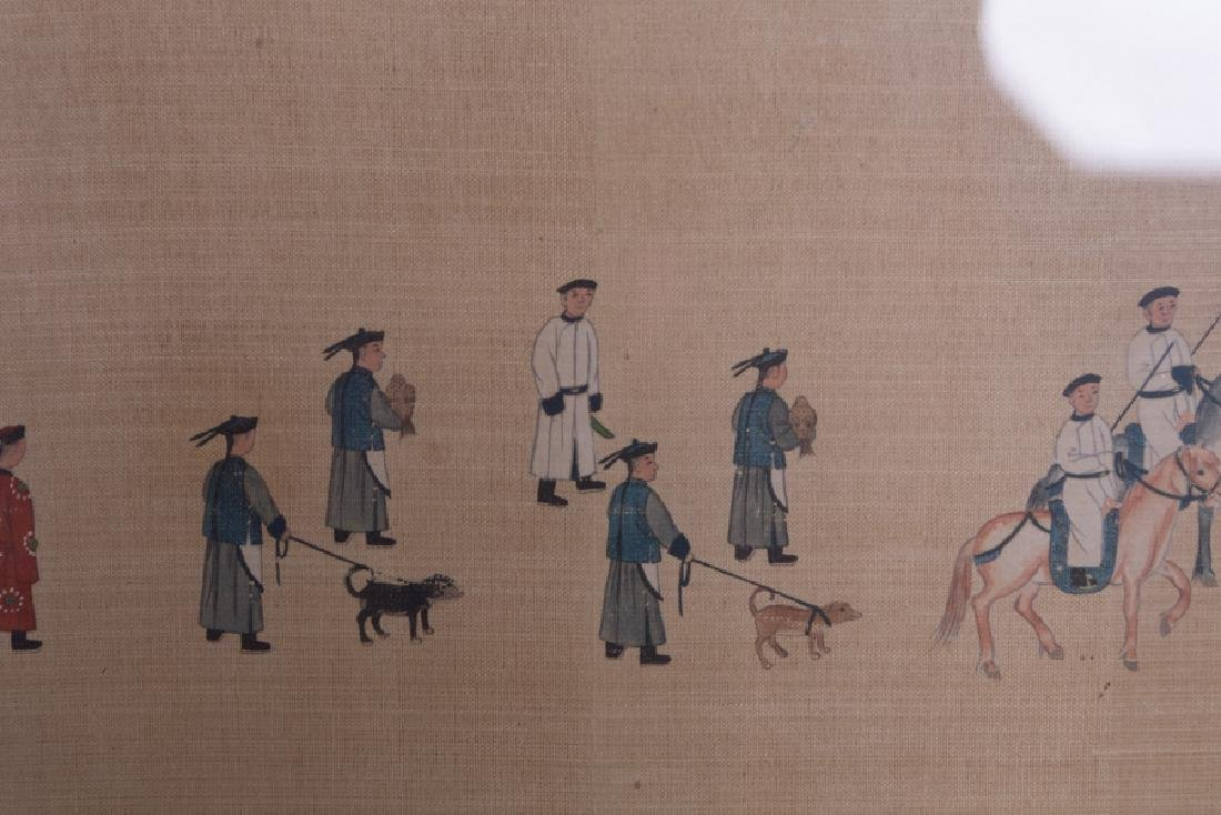 """CHINESE COURT """"PROCESSION"""" PAINTING - 5"""