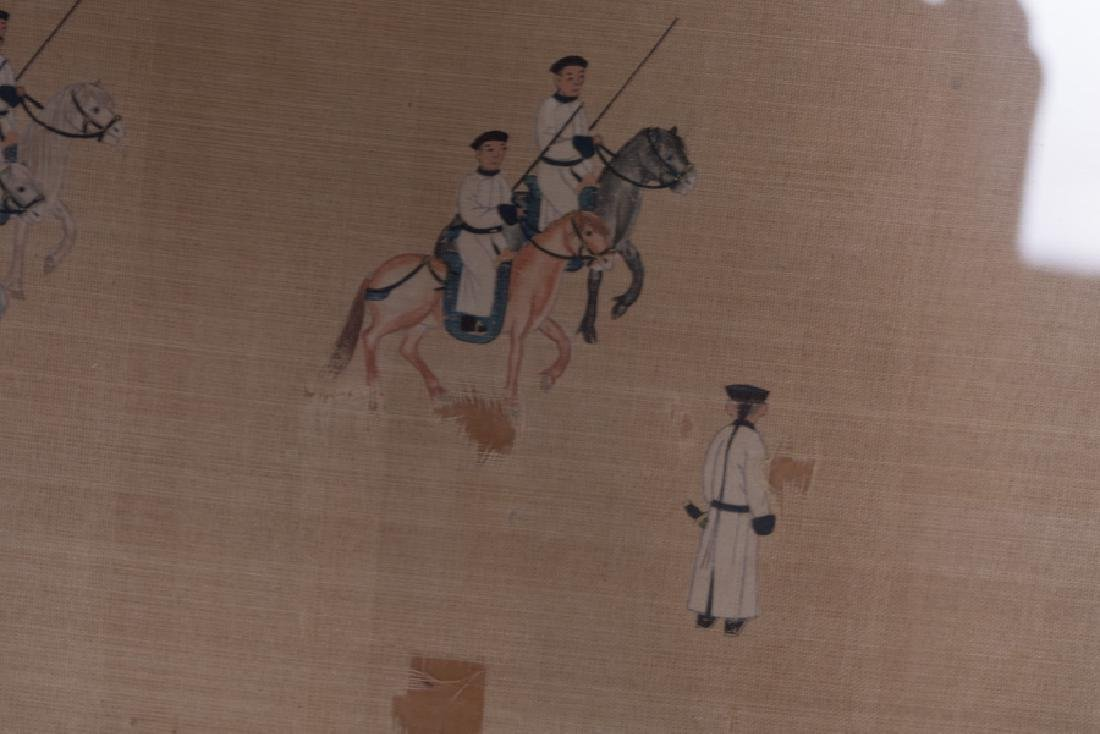 """CHINESE COURT """"PROCESSION"""" PAINTING - 6"""