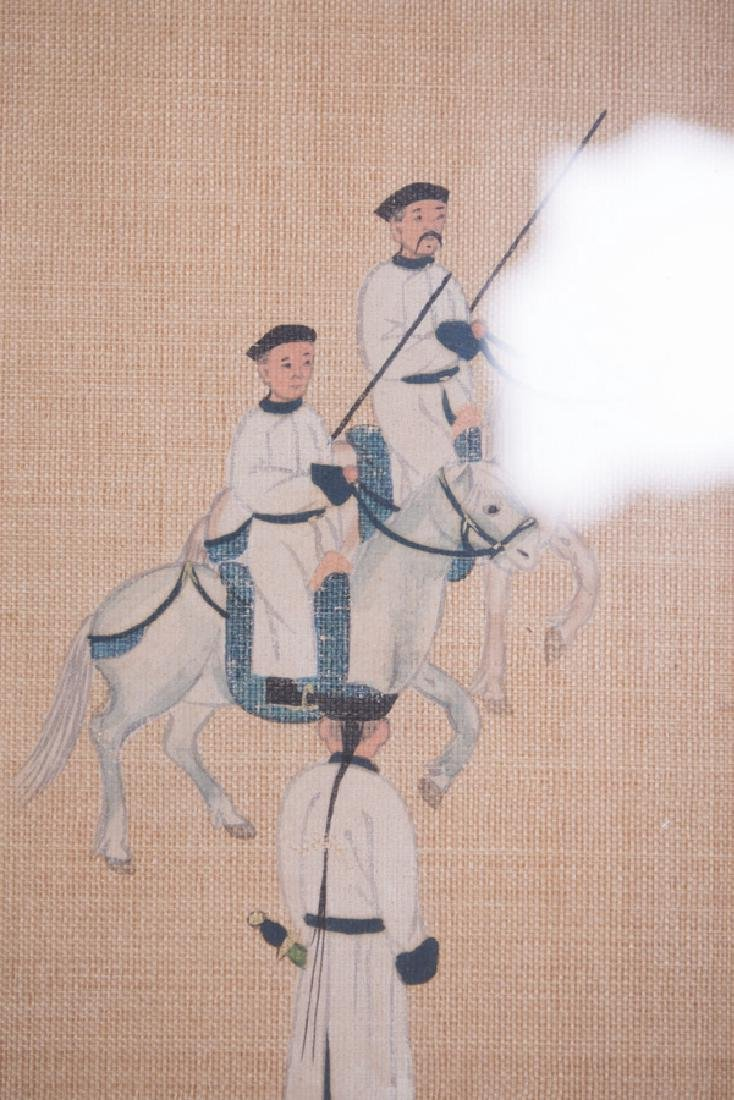 """CHINESE COURT """"PROCESSION"""" PAINTING - 8"""