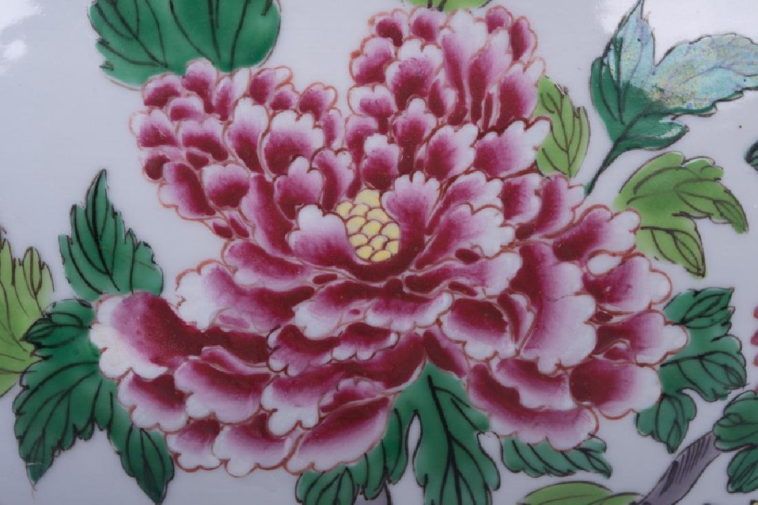 """PAIR OF """"CHINESE EXPORT"""" STYLE PORCELAIN JARDINIERES - 9"""