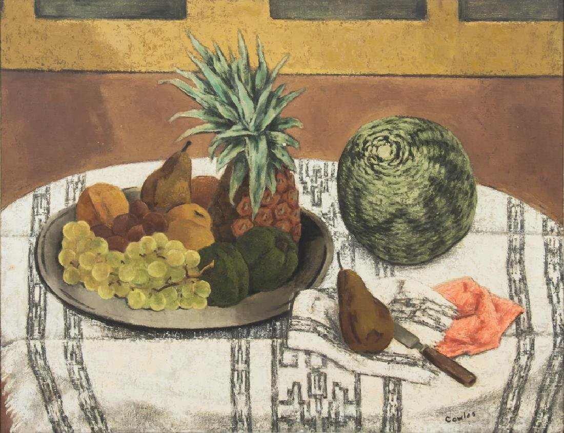 """RUSSELL COWLES: """"STILL LIFE WITH MELON"""""""