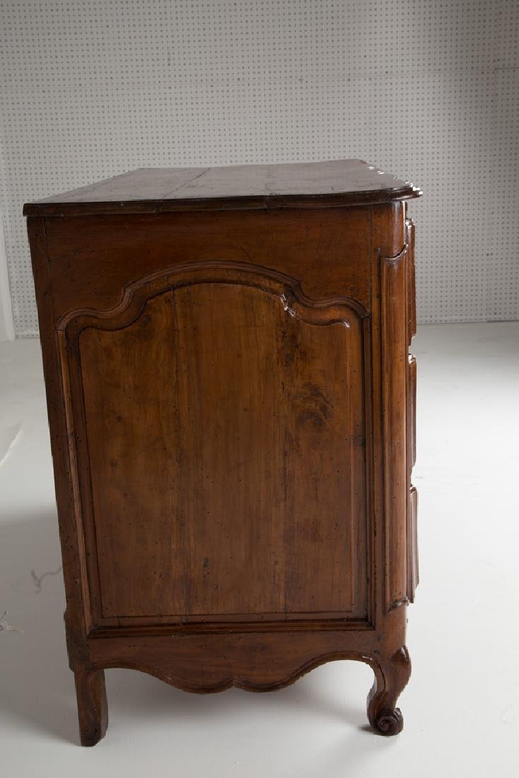 FRENCH WALNUT THREE-DRAWER COMMODE - 8