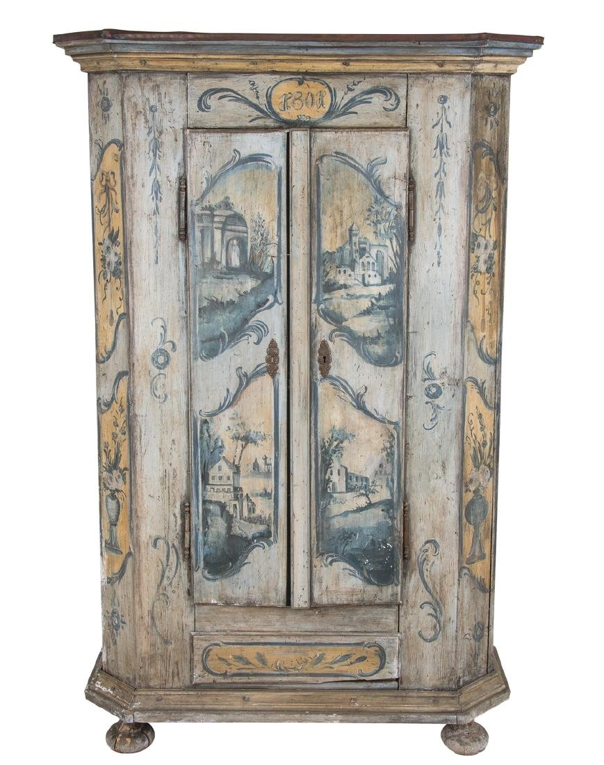 CONTINENTAL PAINTED TWO DOOR CABINET