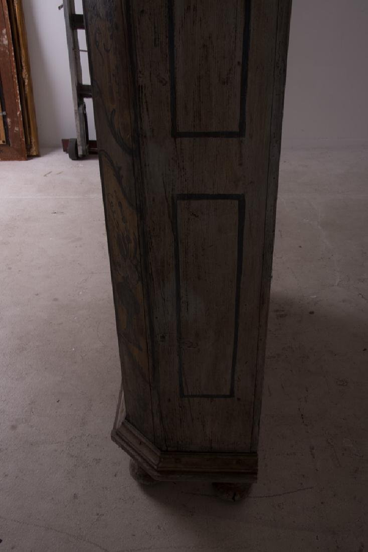 CONTINENTAL PAINTED TWO DOOR CABINET - 2