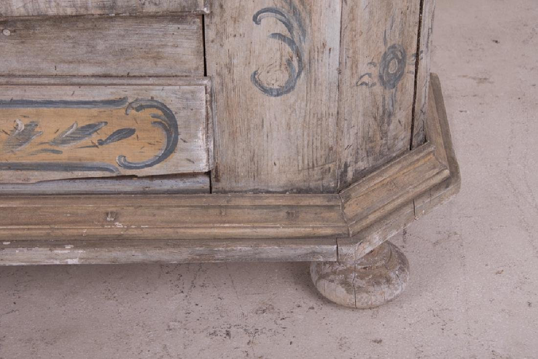 CONTINENTAL PAINTED TWO DOOR CABINET - 7